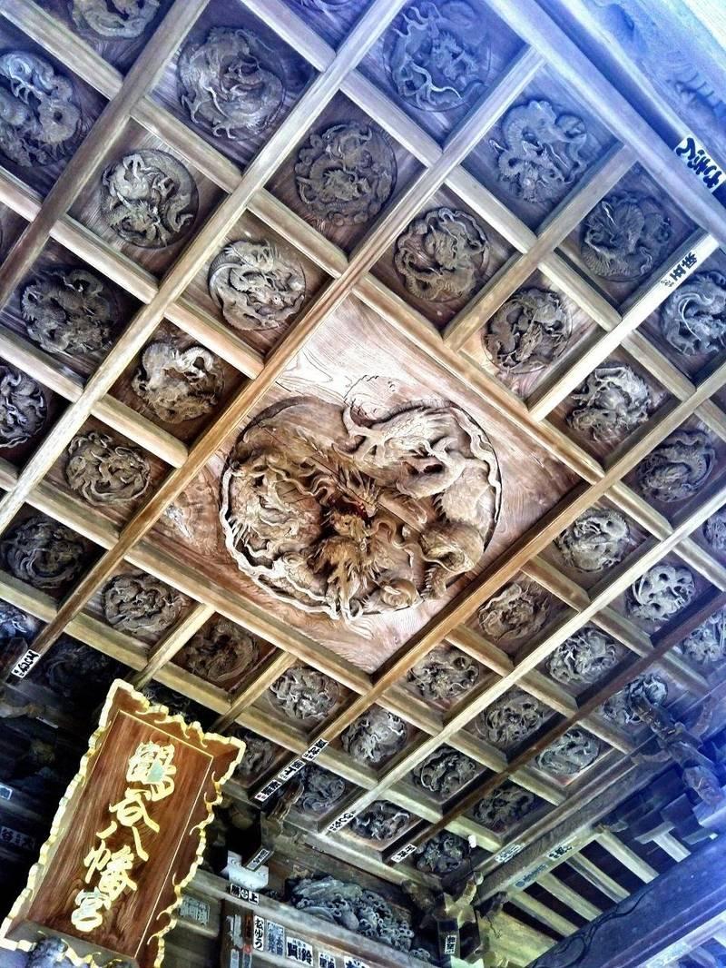 鶴谷八幡宮 - 館山市/千葉県 の見どころ。天井には5... by ユキンタロー(•ө•)♡ | Omairi(おまいり)